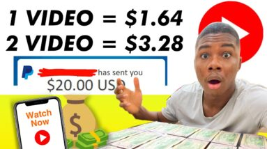 Earn $1.64 Per Video You Watch For FREE! *NO LIMIT* (Make Money Online)