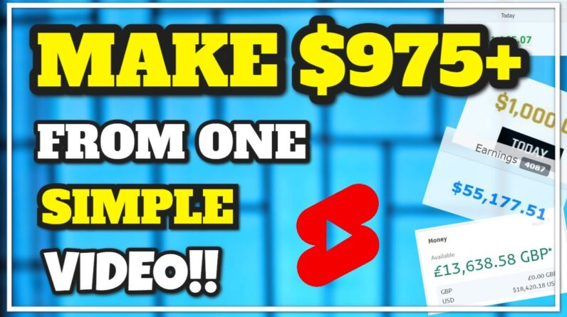 Earn $975 From One YouTube Video! Free Method To Earn Online