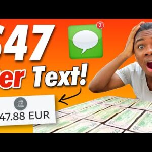 [NEW 2021] Get Paid $47.86 Per Text You Send! (Make Money Online Texting)